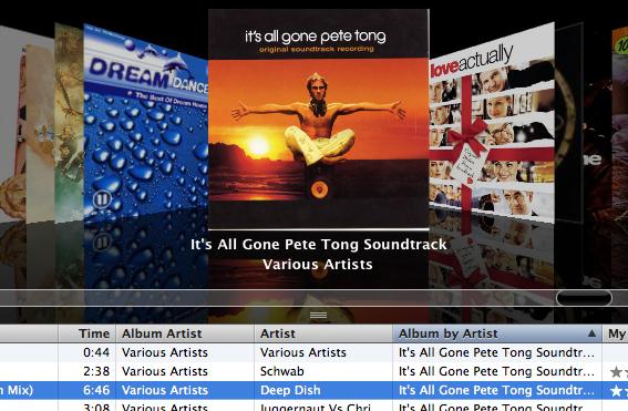 iTunes sorbarendezés