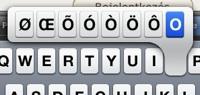 iPhone ékezetek