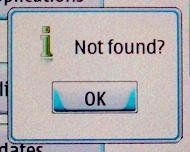 Not found?