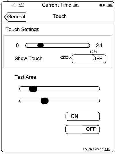 Touch prefs
