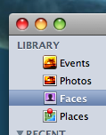 iPhoto - Faces, Places