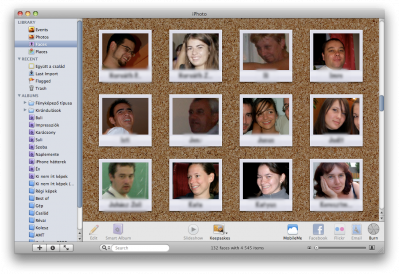 iPhoto - Faces